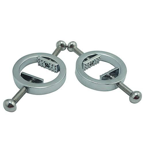 BGDDR EIN Paar gefälschte nippel Ringe einstellbar Edelstahl Piercing Schraube Piercing Kreis klemme -