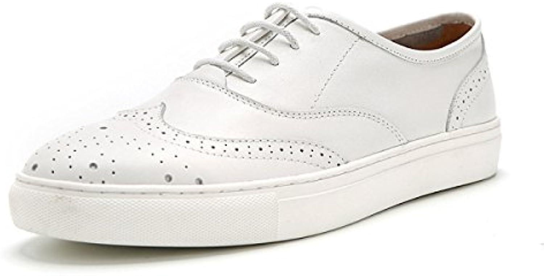 Männer Outdoor Hochzeit Lederschuhe Für Männer Oxford Schuhe weissszlig Business Formale Lace ups Brogues Schuhe