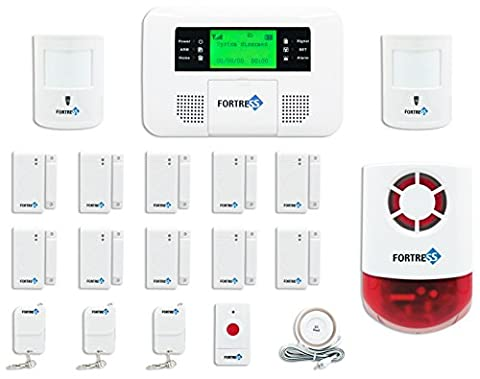 Fortress Security Store (TM) GSM-C Wireless Cellular GSM Home Security Alarm System DIY Kit with Auto Dial
