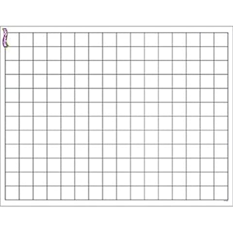 Graphing Grid (Small Squares) Wipe-Off Chart -