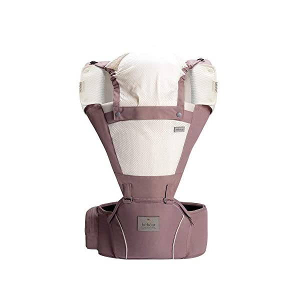Bebamour Baby Carrier Hip Seat 5 Carry Ways with Detachable Seat Breathable Baby Carrier for Newborn (Dusty Pink) bebear 【Material】Polyester, Cotton 【For Age】0-36 Months 【Max. Weight】14.9KG 【Waistband Size】68*118cm 【3 Carry Way in Baby Carrier Hipseat】Face Inward, Face Forward, Backpack 【3 Carry Way in Baby Single Seat】Face Inward, Face Forward, Horizontal 【Features】★ Side pocket in the waistband make you easy to put daily essentials, such as phone, coins, card, tissue etc. ★ Shoulder strap and Waist band are broad wide and padded make you feel easy when long trip. ★ Front is designed with mesh fabric which is more breathable and suitable for 4 seasons. ★ Attached a detachable head cover keep your baby calm in sleeping. ★ Ergonomic Baby Seat designed make baby sit in cozy. 1