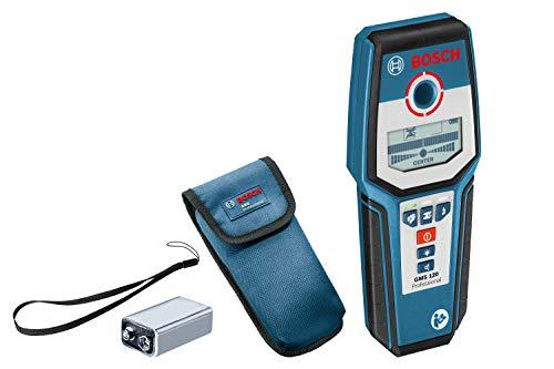 Bosch Professional 601081000 GMS 120 Rilevatore Digitale, profondit? di Rilevamento Max. Acciaio/Rame/Cavi 120/80/50 mm, 9 V, custodia protettiva inclusa, Nero/Blu