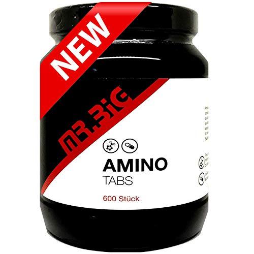 mr.BIG - AMINO Taps 600 Stück - 18 verzweigte Aminosäuren - perfekt geeignet in der Muskelaufbauphase, Diätphase sowie im Kraftsport und Bodybilding. Ein muss für jeden Top Athleten!