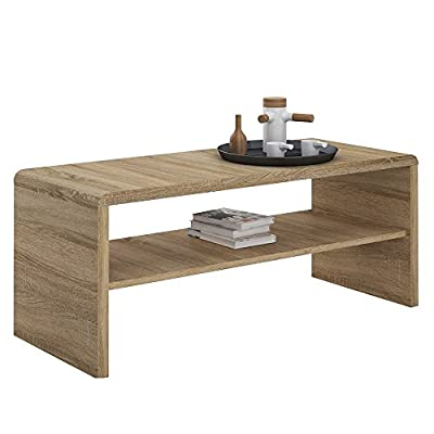 "Furniture To Go ""4 You"" Coffee Table/TV Unit, Wood, Oak - low-cost UK light store."