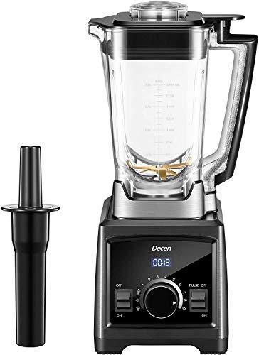 Decen Standmixer, Smoothie Maker, 2000W Mixer 35.000 U/min Smoothie Blender, 2L Tritan-Behälter ohne BPA, Multifunktion 3 Programme, 9 Geschwindigkeiten, Selbstreinigung