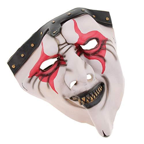 Zombie Brand Kostüm - Unbekannt MagiDeal Horror Zombie Cosplay Maske