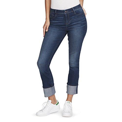 Black Daisy Damen Kate Straight Leg Jeans, Lily, 32 - Wide Leg Cuff Hose
