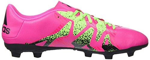 adidas X 15.4 Fxg, Chaussures de Running Compétition Homme Rose (Shock Pink/Solar Green/Core Black)