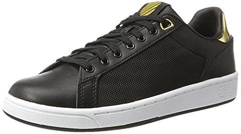 K-Swiss Damen Clean Court Cmf Sneakers, Schwarz(Black/White/Gold 099), 37.5 EU