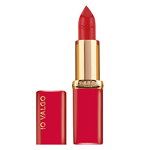 L'Oréal Paris Rossetto Lunga Durata Color Riche, Edizione Limitata, Idea Regalo Donna, Finish Satinato, IO VALGO, 297 Red Passion