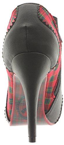 Banned Ankle Boots Jayne bnd055Black de tartan Multicolore