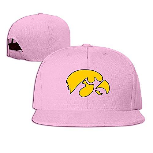 hmkolo Iowa Hawkeyes Baumwolle Flat Bill Baseball Snapback Cap Hat Unisex, unisex, rose -
