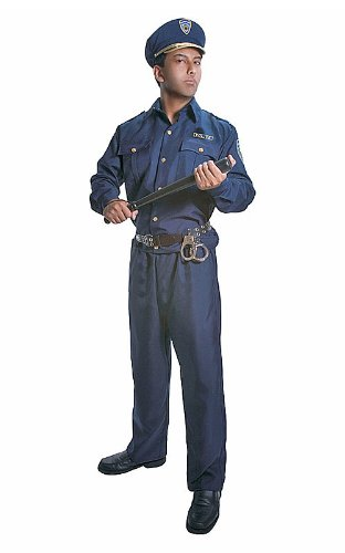 Dress Up America Erwachsene Polizist Kostüm Set (Gedruckt Snap-gürtel)