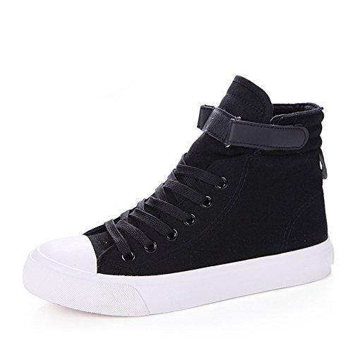 Chaussure en toile amoureux adulte mixte fille garçon basket mode blanc noir