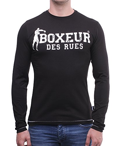 BOXEUR DES RUES Herren T-Shirt Bxe-2655d Nero (Nero)