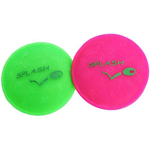 COM-FOUR® 2x Wasser Frisbee, Wasser Wurfscheibe Silikon, in verschiedenen Farben, 11,2cm