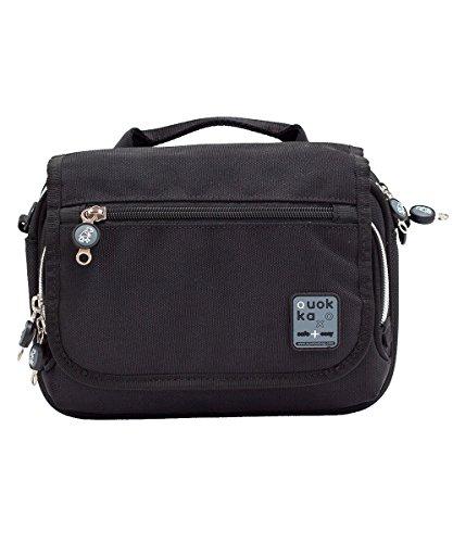 Quokka Horizontal Bag schwarz - Tasche für Rollstuhl, Rollator, Scooter, Fahrrad, Elektro-Rollstuhl, Wetterfest, Stoßfest mit Magnetverschluss und kontrastreicher Innenauskleidung