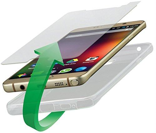 4smarts 360° Protection Kit vetro di protezione & per cellulare Second Glass & Case Set protezione completa Cover per Huawei Mate S