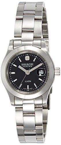 Swiss Military 6-5022.04.007 - Reloj de mujer de cuarzo, correa de acero inoxidable color plata