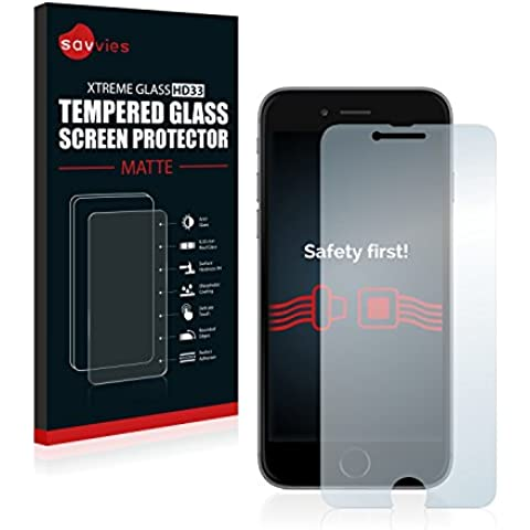 Savvies Protector Cristal Templado Mate iPhone 6 / 6S Protector Pantalla Vidrio - Dureza 9H, Antireflejos