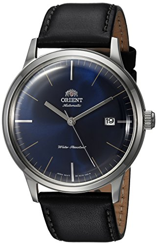 Orient Men's Analog Japanese-Automatic Watch with Leather Calfskin Strap FAC0000DD0