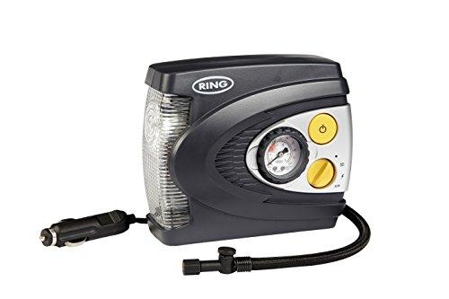 Ring RAC625 Compresor de Aire Analógico Predeterminado de 12 V con Luz LED