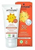 ATTITUDE mineralische Sonnencreme für Babys & Kinder Vanille LSF 30 (1 x 75 g)