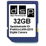DSP Memory Z-4051557328846 32GB Speicherkarte für Praktica LM16-Z21S Digital Kamera