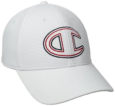 Champion Men's Signature Fitted Baseball Hat, White,