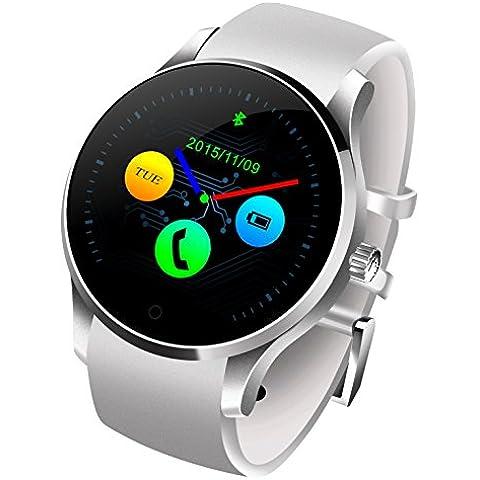 Bluetooth intelligente Guarda capacitiva dello schermo di tocco Heart Rate Monitor Contapassi sonno - Bianco Cinturino