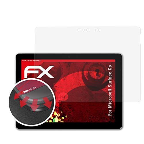atFolix Schutzfolie passend für Microsoft Surface Go Folie, entspiegelnde & Flexible FX Bildschirmschutzfolie (2X)