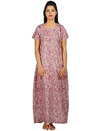 AISNIGHA Womens multi Print Cotton Nighty a deep 5078
