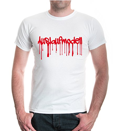 buXsbaum® T-Shirt Auslaufmodell White-Red