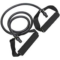 Látex elástico Banda de Resistencia de Pilates del Tubo de tracción por Cable Gimnasio Yoga de la Aptitud Equipo Negro