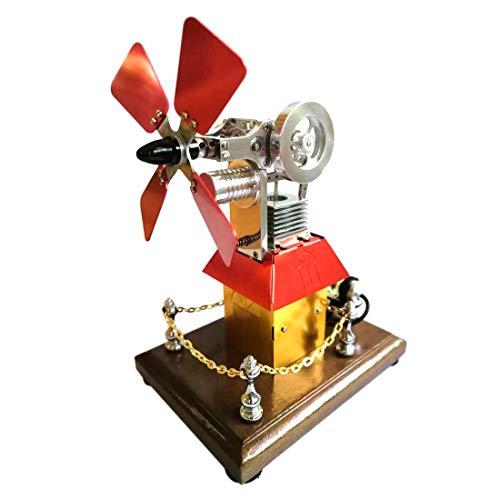 Model mit Butan Angetrieben Stirling Motor Physik Spielzeug Pädagogisches Modell Geschenk für Erwachsene und Kinder ()