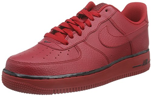 Nike  Air Force 1, espadrilles de basket-ball homme Rouge - Rojo (Gym Red / Gym Red)