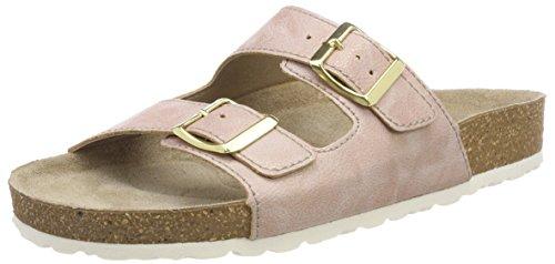 MARCO TOZZI Damen 27401 Pantoletten, Pink (Rose Metallic), 36 EU