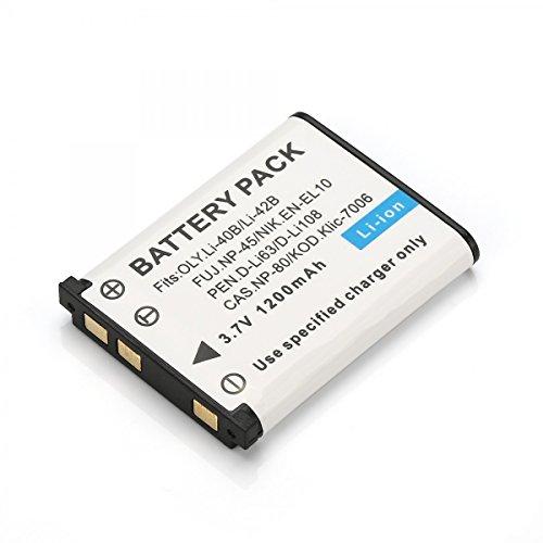 Rusty Bob - NP-45/LI-42B Akku / Batterie FinePix-J10,J100,J110W,J120,J150W,Z10FD,Z20FD,Z100FD,Z200FD,Z30,Z33,Z33WP CoolPix S200,S700,S3000 - Akku - En-el10 Lithium-batterie