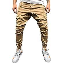 YiYLinneo Pantalones Hombre Pitillo Bolsillo Moda Pantalones Pantalón  Trabajo Pantalones Vaqueros para Ajustado Harem Pantalones Trouser 15e8c926d0d5