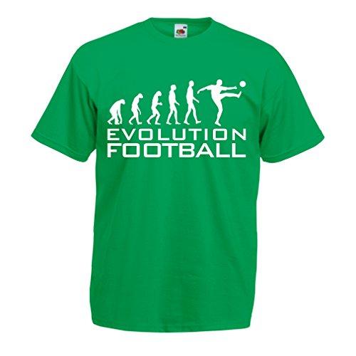 lepni.me Camisetas Hombre La Evolución del Fútbol - Copa del Mundo de Fútbol  2eef2694b7ae7