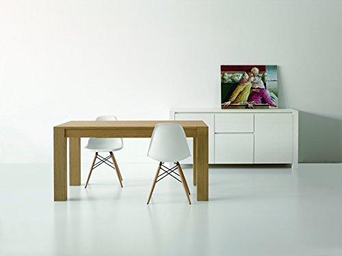 Fashion commerce fc634 tavolo rovere naturale allungabile, legno, marrone, 180 x 90 x 75 cm
