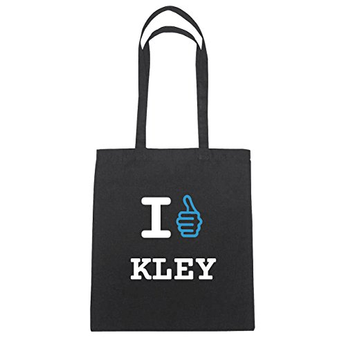 JOllify Kley di cotone felpato B475 schwarz: New York, London, Paris, Tokyo schwarz: I like - Ich mag