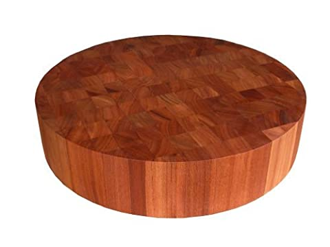 John Boos Cherry Wood End Grain Round Butcher Block Cutting Board, 18 Inches Round x 3 Inches by John Boos
