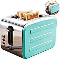 Wovemster Máquina Tostadora de Desayuno de Acero Inoxidable Máquina de Pan Máquina de Pan Tostado,
