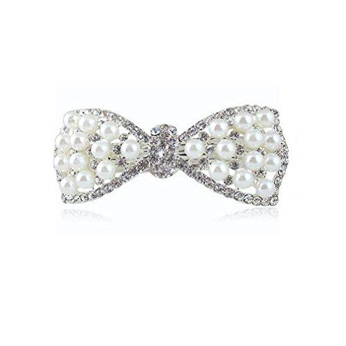Haarclip, HARRYSTORE Frauen Art- und Weiseperlen Diamant Schmetterlings Knoten Haarnadel Verzierungen (Katze Kleinkind Diy Kostüm)