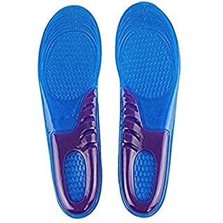 ARSUK Unisex Orthotic Foot Sole Arch Support Massaging Gel Silicon Sport Insole