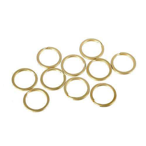 Packung mit 10 Stück 20/25/30/35 mm Messing Split Key Ringe Kette Charms Verschluss Schlaufe Ergebnisse DIY Basteln