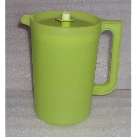 Tupperware 2 Quart Pitcher w/ Push Button Seal, Sheer Green
