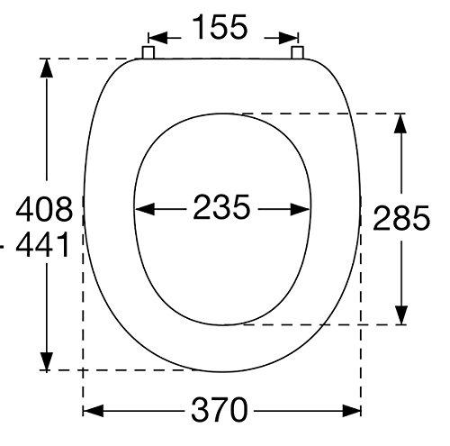 Pressalit 124052-UN3999 WC-Sitz 2000 Manhattan mit Deckel und Universalscharnier (BN3)