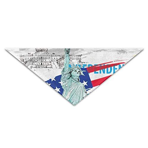 vintage cap USA Statue of Liberty Triangle Pet Scarf Dog Bandana Pet Collars for Dog Cat - Birthday -
